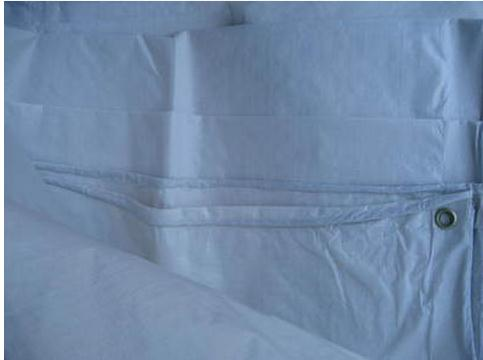 Super Cheap Outdoor Waterproof Canvas, Dustproof Cloth, PE Tarps, 6mX4m White Outdoor Covered Cloth, White Tarpaulin.