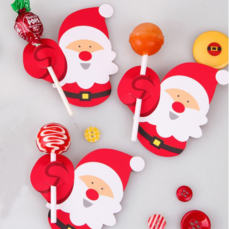 aliexpresscom buy 50pcs hot penguin santa claus lollipop cards paper birthday party decorations christmas candy gift for kids from reliable decoration