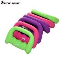 3 colours 2 pcs/pair 1 kg Women's Dumbbell Small Dumbbell Child Dip Dumbbell Aerobics Set Wholesale Retail Available