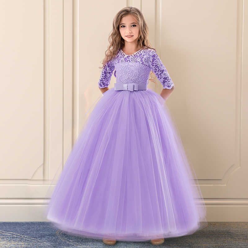 Fancy Kids Dresses For Girls Bridesmaid Long Lace Girls Dress For Wedding  Pageant Party Communion Teen 6027d7e58764