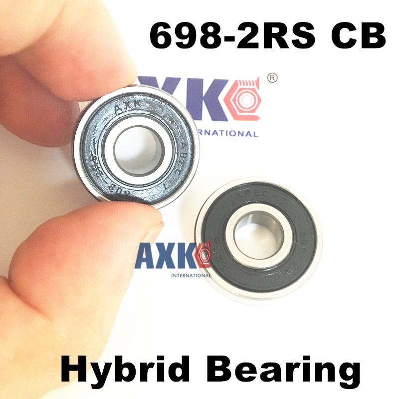 Free shipping 698-2RS CB  698 hybrid ceramic deep groove ball bearing 8x19x6mm free shipping 6806 full si3n4 p5 abec5 ceramic deep groove ball bearing 30x42x7mm 61806 full complement