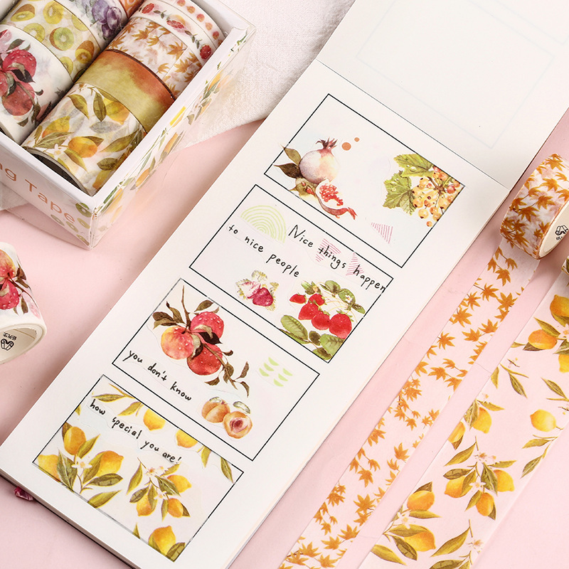 10 Pcs Washi Tape Set Stickers Scrapbooking Masking Wash Tapes Washitape Ocean Fita Adesiva Cinta Adhesiva Decorativa Flower in Office Adhesive Tape from Office School Supplies