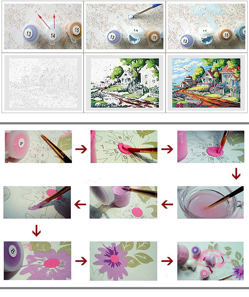 MURAN Framed Pictures Painting By Numbers Owl DIY Digital Oil Painting On linen Home Decoration Wall Art 40*50cm 16