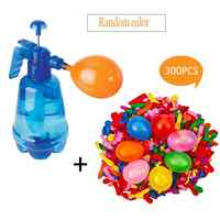 Water Balloons Children Filling Station 3 In 1 Pump Spray Bottle Manual Water Inflation Ball Toy Water Bomb Random Color
