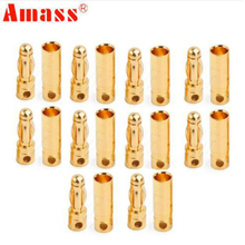 100 пар/лот безщеточный высокое качество Banana Plug 4,0 мм разъем Золотая пуля покрытием для ESC Батарея