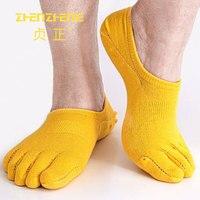 6 çift/grup Marka spor Yeni Tasarım Yaz Serin Yumuşak Pamuk Tekne Çorap Görünmez Beş Ayak Çorap Erkekler Için Boyutu 39-44