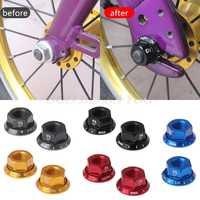 2pcs/bag Bicycle Hub Nut For M10 Fixed Gear MTB Road Bike Screw Bolt Aluminum Alloy Hub Nut