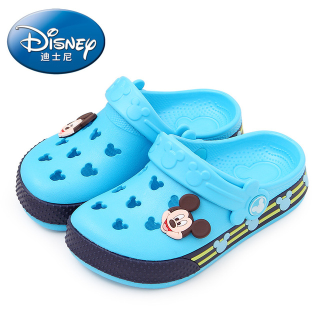 2019 Disney  Minnie children's hole shoes summer baby boy Mickey  slippers children's  beach  shoes 24-35 1