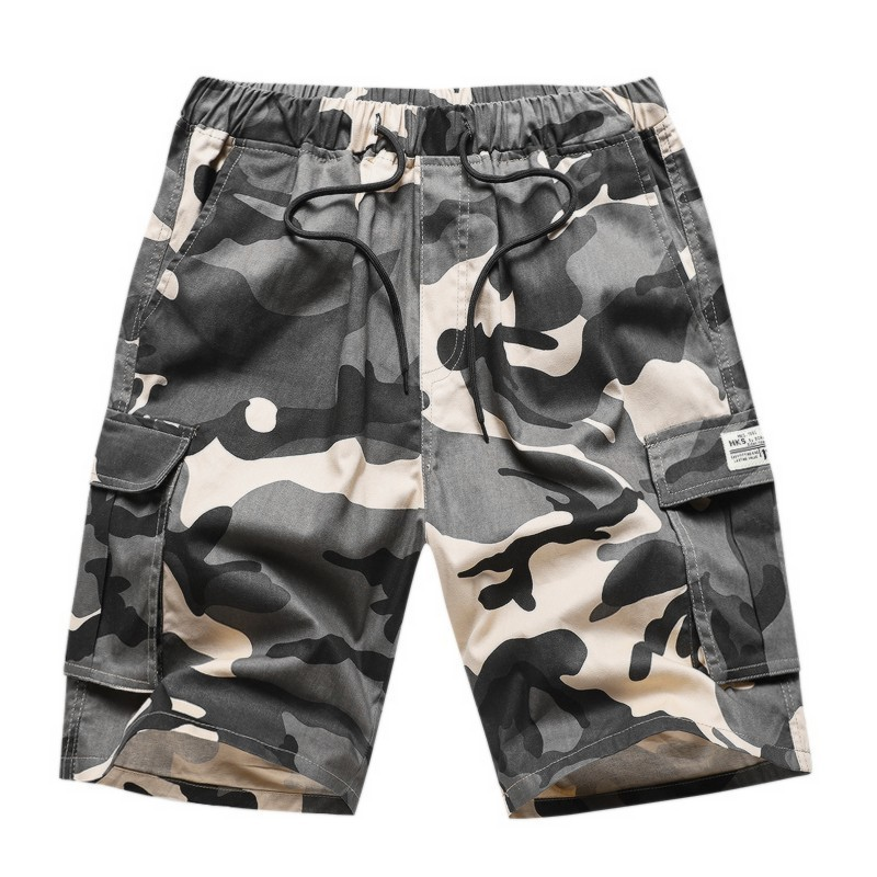 7XL Men Summer Camouflage Cotton Pocket Safari Style Cargo Shorts Men Fashion New Casual Relaxed Fit Military Shorts Bottoms Men
