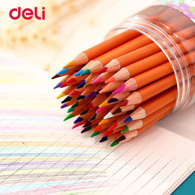 Deli Stationery colored pencils 24 colors pencil for student kids gift Painting Colored Pencil for Office school art supplies