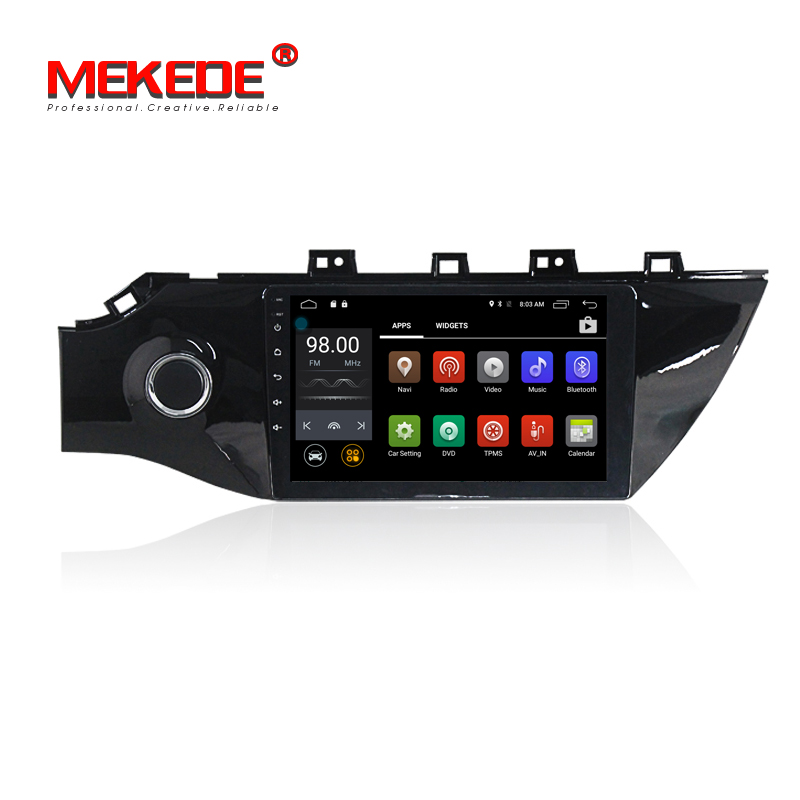 Russian warehouse delivery Android 7 1 Quad core Car GPS DVD player for KIA RIO K2