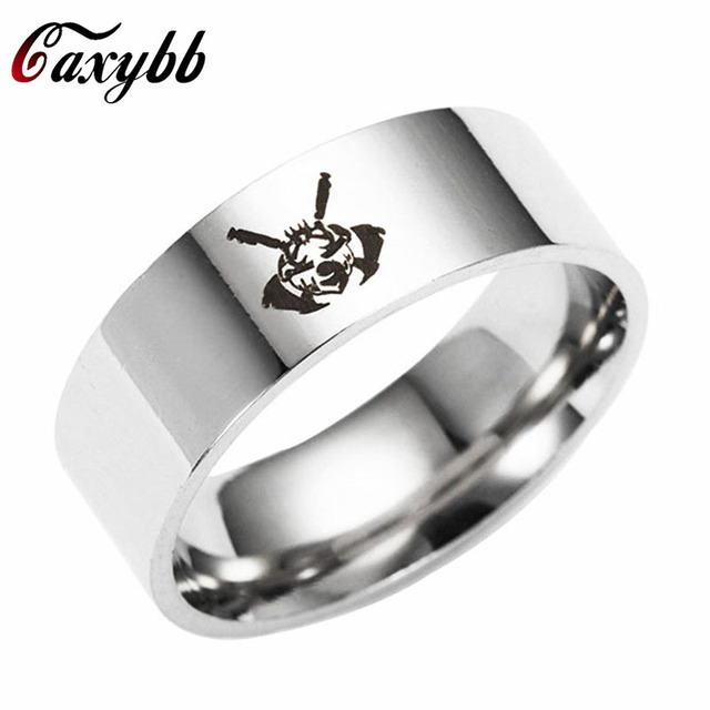 Caxybb suicide squad stainless steel ring Harley Quinn rings Gift