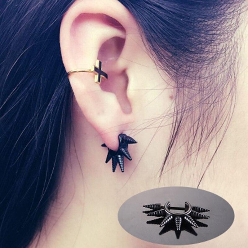 20PCS/PACK spike earring unisex man woman fashion ear piercing jewelry stainless steel body piercing