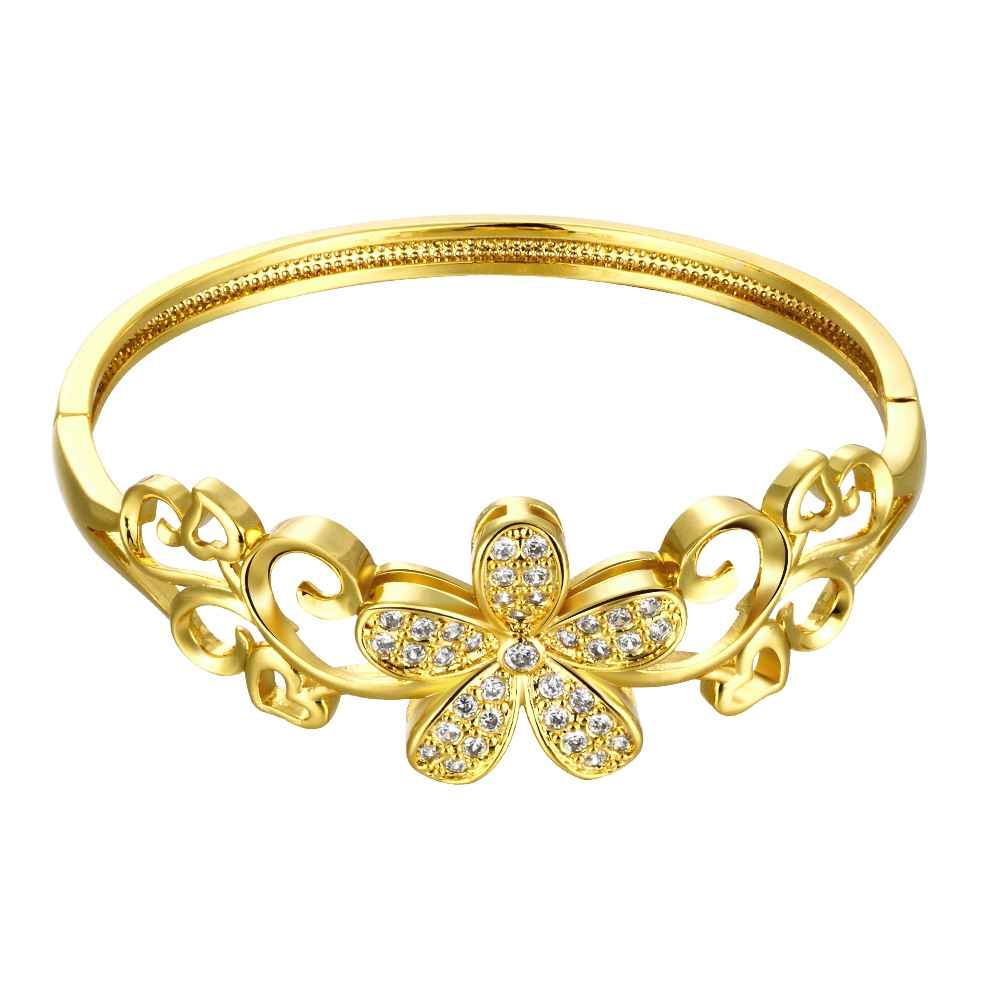 Free Shipping 2016 Lovely women jewelry gold color bangles ...