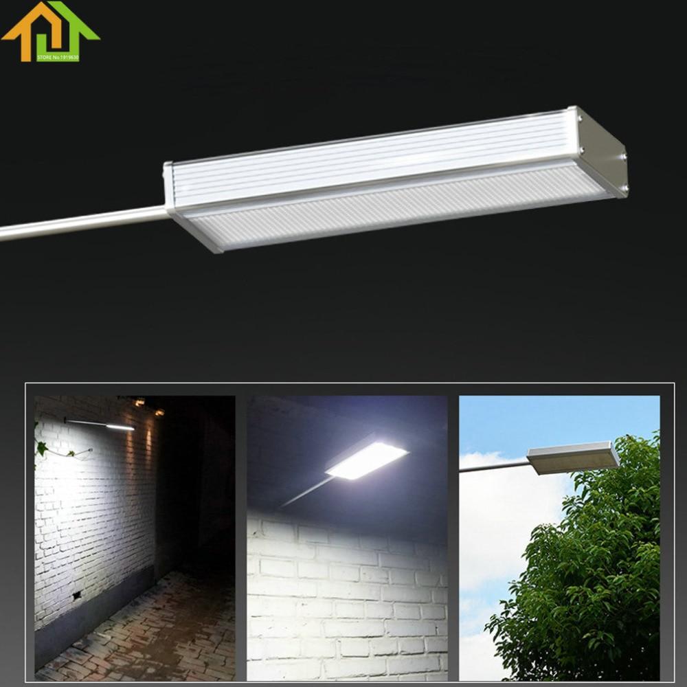 48LED Waterproof Microwave Radar Motion Sensor Solar Light 720LM Street Outdoor Wall Lamp Security Spot Lighting