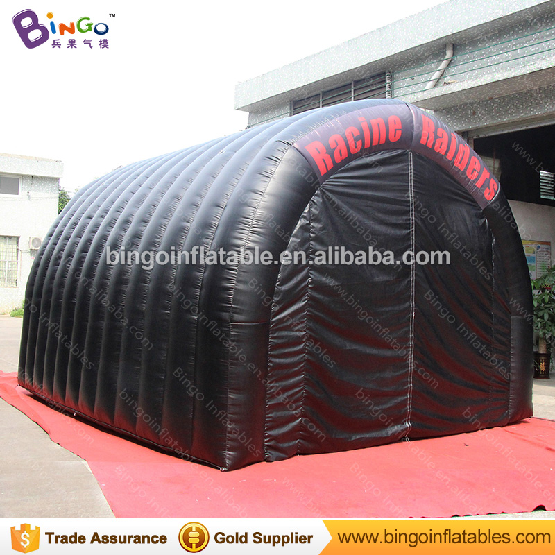 Free Delivery Arc shaped type Black Inflatable Tunnel Tent 5x4.5x3.5 Meters customized blow-up football tunnel for toy tents цена
