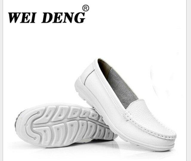 2015 осень мать рабочая обувь из натуральной кожи женская обувь туфли-Балетки Comfort противоскользящей белый медсестра обувь H818