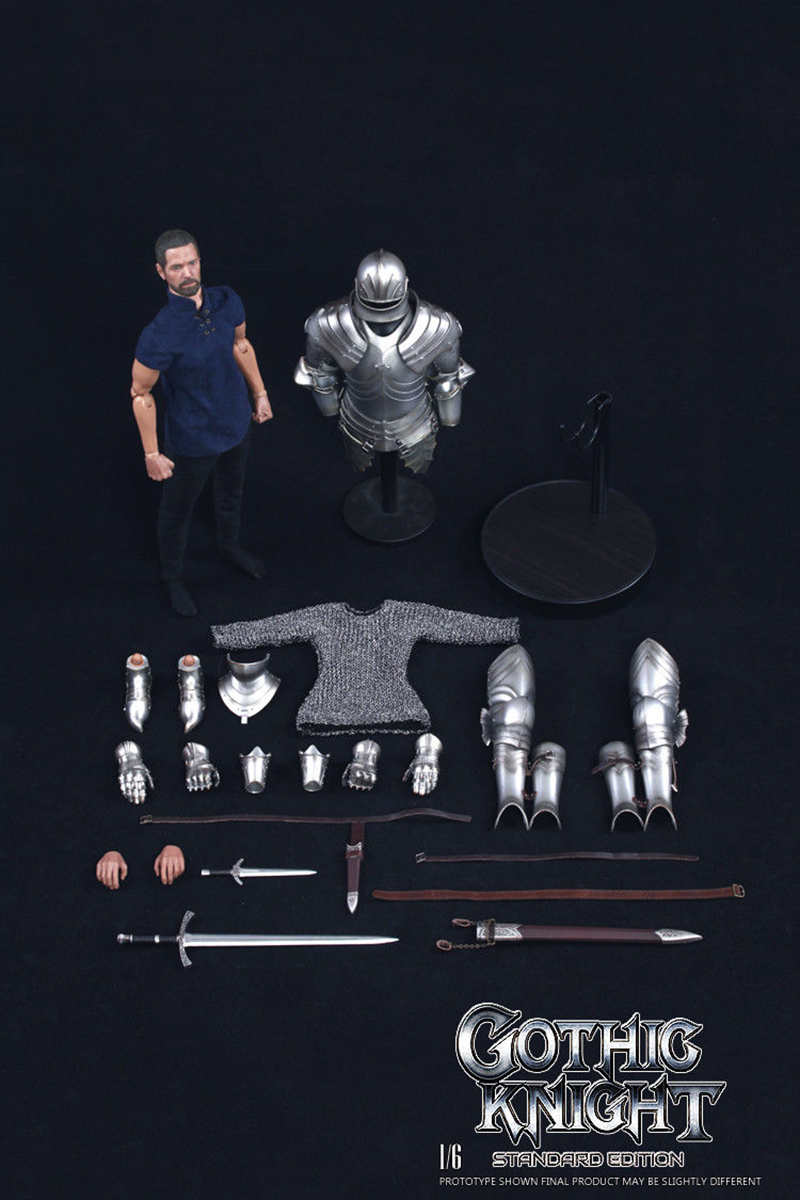 SE014 1/6 Alloy die-casting Empire series Gothic knight Armored war horse ; SE012 Series of Empires Gothic Knight Set 1/6 Scale 1
