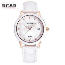 READ brand fashion Simple Watch Ladies Watch Box fashion belt ceramic quartz watch relogios feminino  Complete Calendar 2014