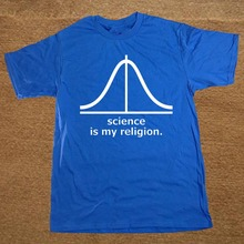 """Science is my religion"" men's shirt"
