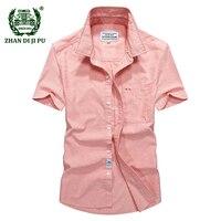 2018 Europe business men's summer casual brand soft pure cotton gray short sleeve shirt man afs jeep blue thin fashion shirts