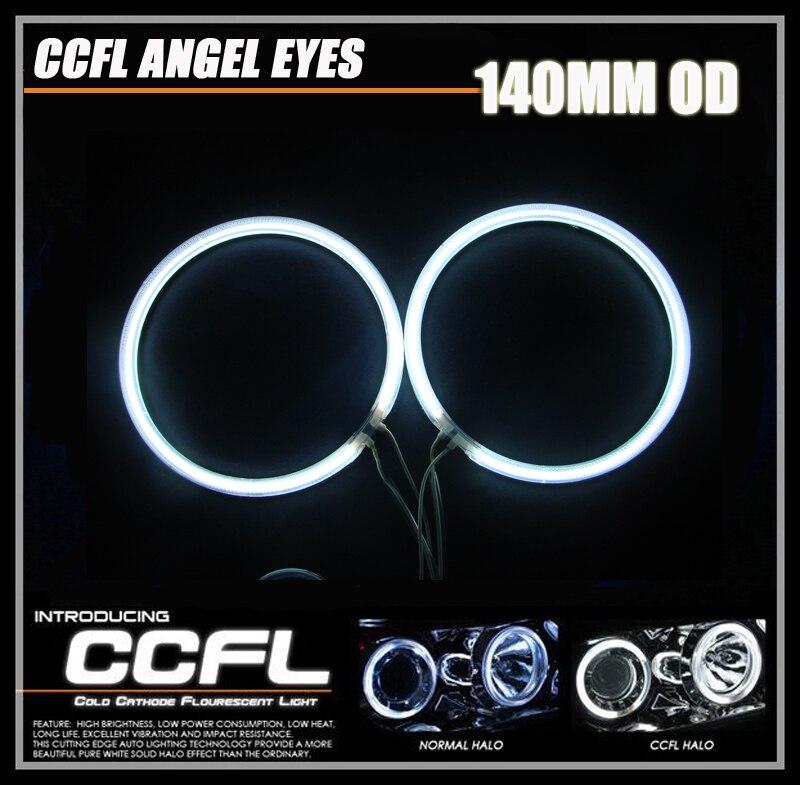 2x 140MM Angel Eyes CCFL Ring DRL Headlight Car CCFL Daytime Running Lights Car styling Light
