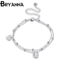 Bryanna Women Heart Summer Wedding simple Ankle Foot Jewelry pulsera ankle bracelets for women Foot anklet jewelry LKNSPCA084