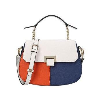 9446f213513e Новая мода Личность седловидные женские кожаные сумки тенденции моды  телячьей кожи женщин сумка zip пряжкой застежкой мешок