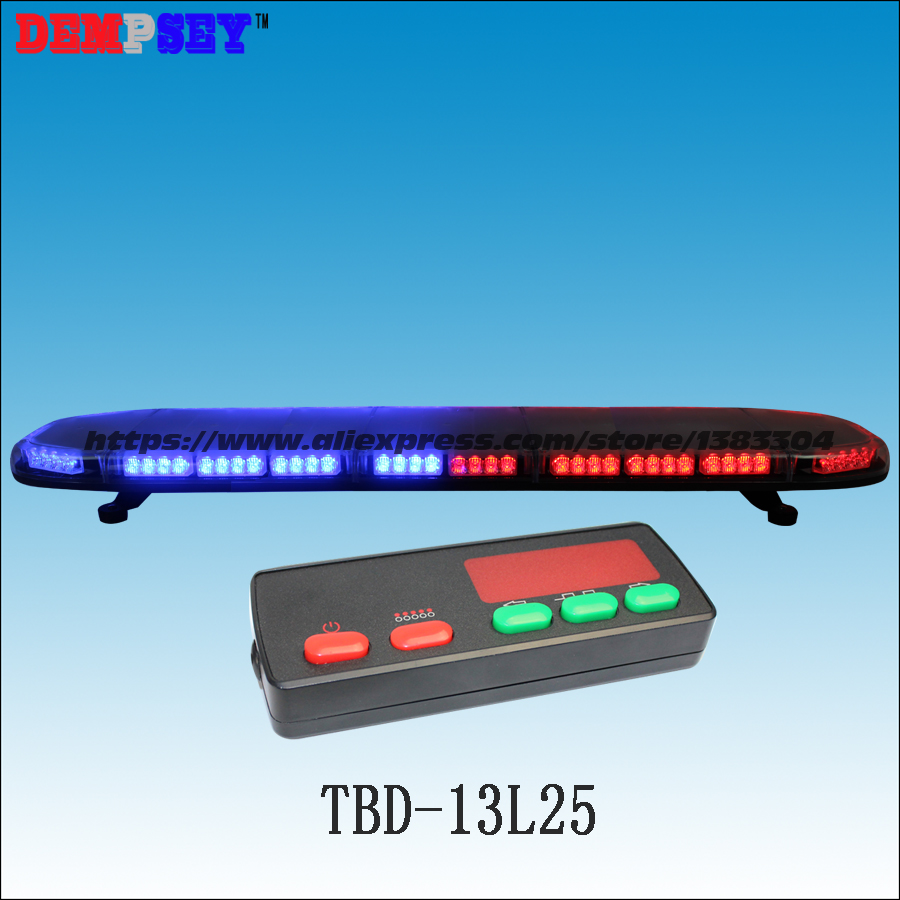 TBD-13L25 High quality LED Super bright lightbar,Blue&Red emergency lightbar,Car Roof Strobe warning lightbar,with controller-3K