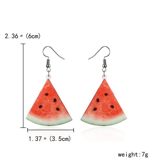 Realistic Fruit Acrylic Earrings For Women