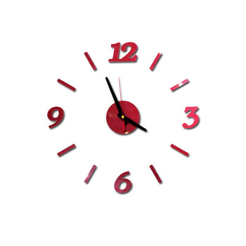 diy Mirror Wall Clock Sticker Acrylic 3D Roman Numbers Clock Wall Art Watch Decals Wall Clocks for Living Room Home Office 9M14 8