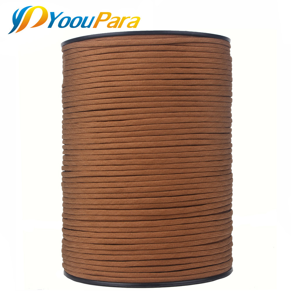 252 Couleurs 1000FT 550 Paracord/Parachute Cordon Type III 7 Brins, 5/32