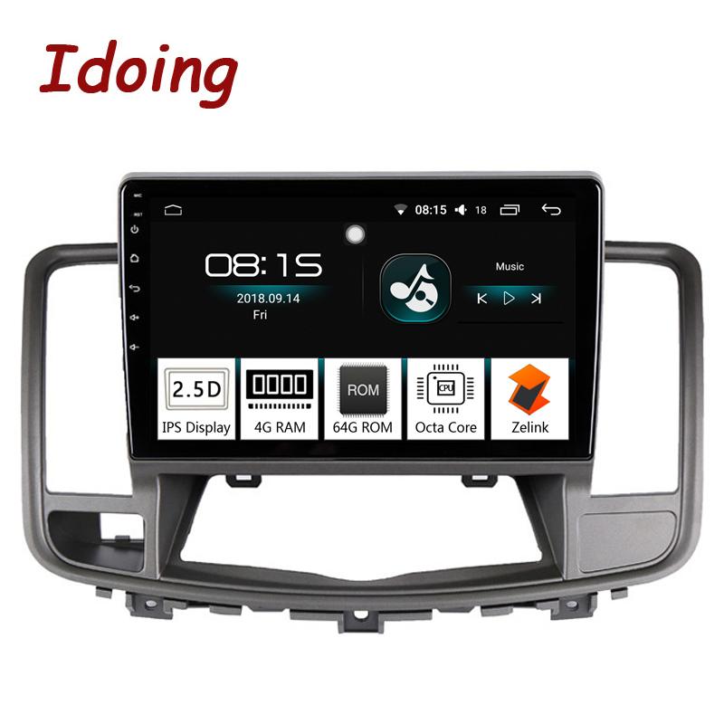 "Idoing 10.2""2.5D IPS 1 din Car Android 8.0 Radio audio Multimedia Player Fit Nissan teana 2008-2009 4G+64G 8 Core GPS Navigation"