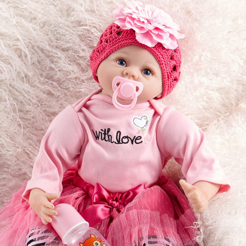 silicone reborn dolls Best gift for girls&daughter Bebe Reborn Doll Soft Silicone Lifelike newborn Baby Doll SB5509 reborn baby warkings reborn