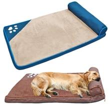 Кровать для больших собак, домик для домашних животных, диван-коврик для собак, кровати с подушкой, мягкий домик для домашних животных, кошек, одеяло, подушка для Лабрадора хаски