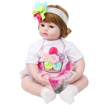 Bebes reborn toddler baby girl doll 22inch 55cm silicone reborn baby dolls toys fashion gift for child boneca reborn NPK DOLL