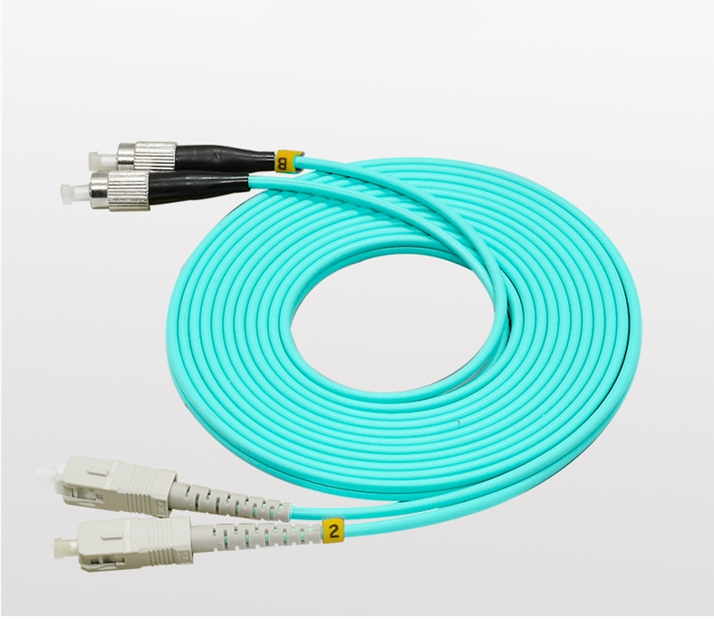15M 10G OM3 Armored Cable Fiber Patch Cord LC to LC 3.0mm MM 50//125 Duplex
