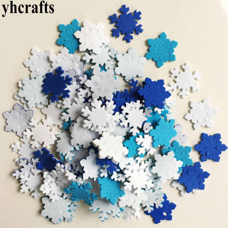 55PCS/LOT,Snowflake xmas foam stickers Early learning educational craft diy toys Kids room ornament Color learning Creative OEM