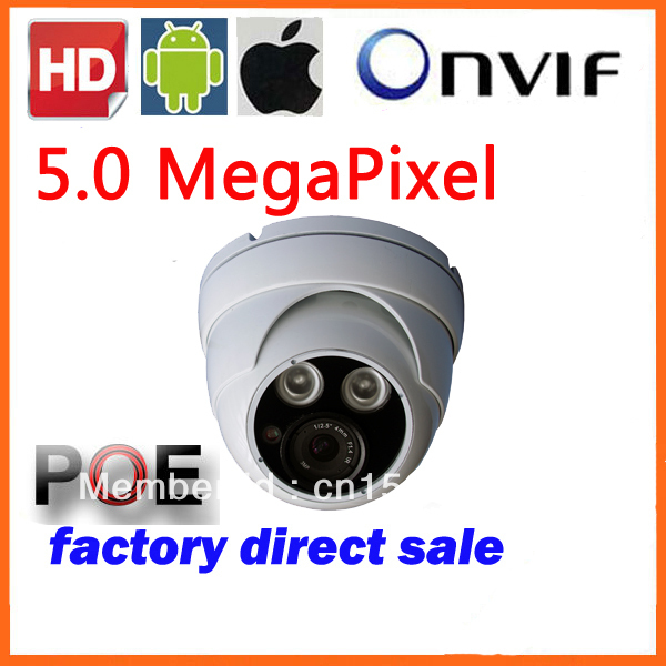 2013 Top Rated  CCTV Full HD 1080P Real Time Outdoor 5Mp 5.0 Megapixel H.264 IP  Camera ONVIF Night Vision IE TI DM368 with POE