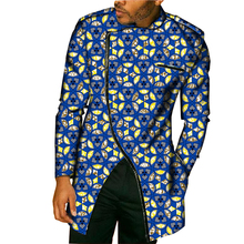 New Design Africa Style Tops Dashiki Men Dress African Clothes Fashion Print Long Sleeve Man T-Shirt Costume Customize