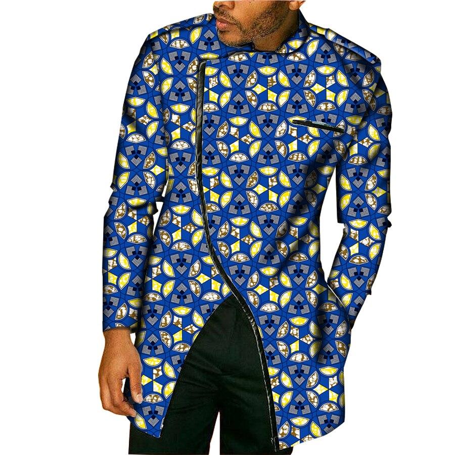 Nouveau Design afrique Style hauts Dashiki hommes robe africaine hommes vêtements mode impression à manches longues homme T-Shirt Costume personnaliser
