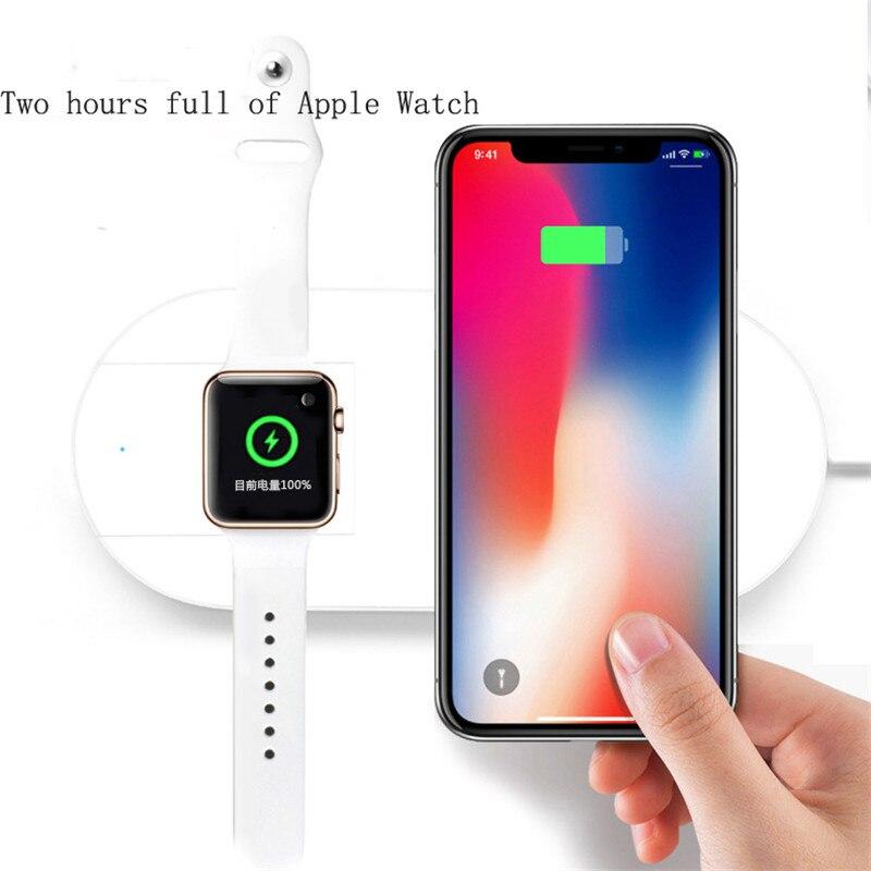 Chargeur sans fil pour iPhone X/8/8 Plus chargeur sans fil Pad Charge rapide pour Apple Watch support de Charge sans fil pour Samsung S9 S7