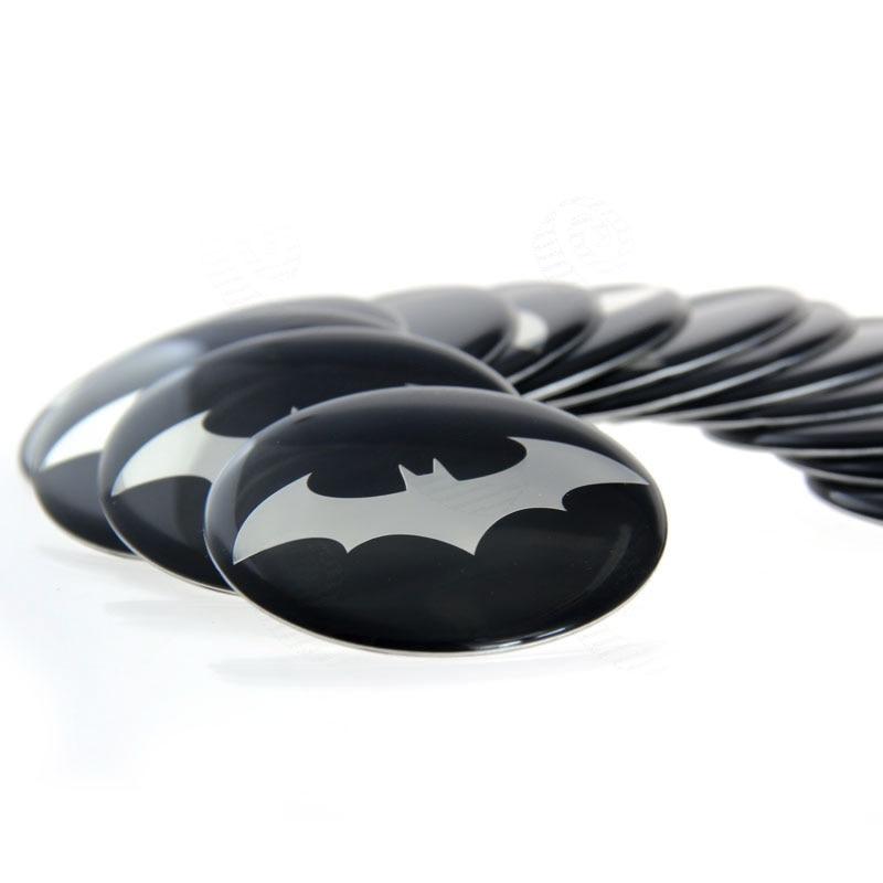 8pcs 50mm Batman Badge The Dark Knight Bat Logo Car Styling Emblem Decals Car Wheel Center Hub Cap Stickers US Shipping#4682*8