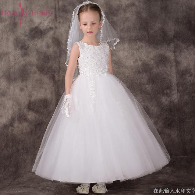 0e8e90d89 الأبيض زهرة بنات فساتين لحفلات الزفاف الطفل الصغير الأطفال صور اللباس  الاطفال حزب الفساتين حفلة موسيقية