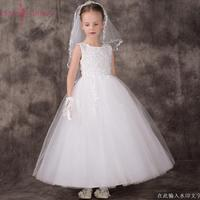 Blanco little flower girls vestidos para bodas vestidos Fiesta infantil Del Bebé imágenes Vestido de los niños vestidos de baile vestidos de noche 2018