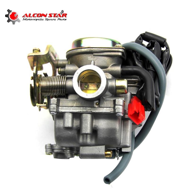 Alconstar Motorcycle Carburetor PD18J GY6 50 60 80 Scooter Engine Part 50CC 60CC 80CC 2 Stroke