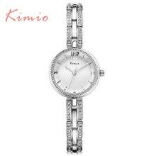 KIMIO reloj de Cuarzo Para Las Mujeres Marca de Lujo Ladies Relojes de Pulsera de Plata Elegante Impermeable Relojes Mujer 2016 Montre Femme 6103