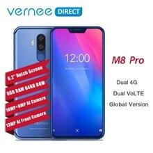 Vernee M8 Pro Нотч Экран Android 8,1 мобильный телефон 6,2 «Octa Core AI Камера 6 ГБ + 6 4G B 4100 мАч Беспроводной зарядки NFC Смартфон 4G