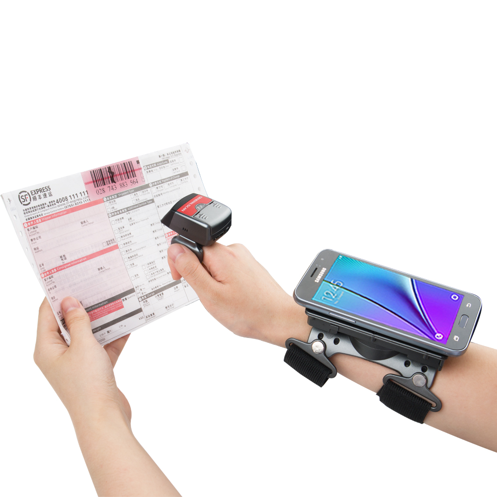 Generalscan GS R1000BT + AB1000 (01) 1D Bluetooth кольцо сканер штрих-кода работа с повязкой для розничной/Склад/логистических