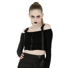 New Sexy Shoulder Off Women Slip Tops Black Long Sleeve Dew Belly T Shirt Spring and Fall Clothes new dew shoulder design clothes the horn sleeve beautiful stripe girls blouses